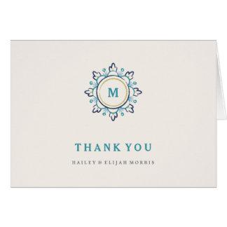 Cartões de agradecimentos da mandala - cerceta