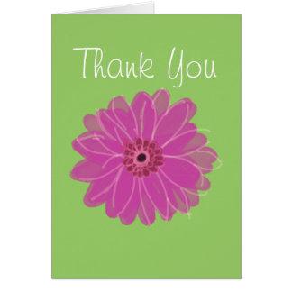 Cartões de agradecimentos da margarida de Gerber