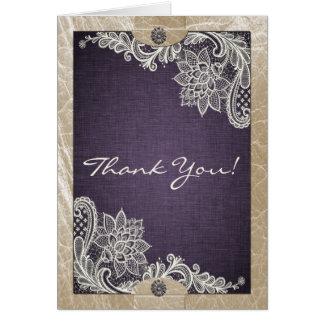 Cartões de agradecimentos da sarja de Nimes