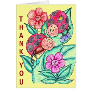 Cartões de agradecimentos da senhora Desinsetar