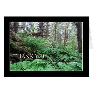 Cartões de agradecimentos da simpatia