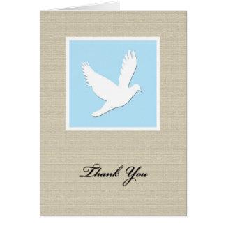 Cartões de agradecimentos da simpatia da pomba