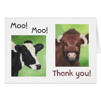 Cartões de agradecimentos da vaca