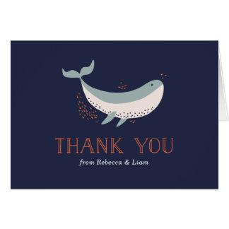 Cartões de agradecimentos da vida marinha