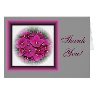 Cartões de agradecimentos da violeta africana