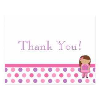 Cartões de agradecimentos das bolinhas da menina cartoes postais
