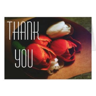 Cartões de agradecimentos das flores