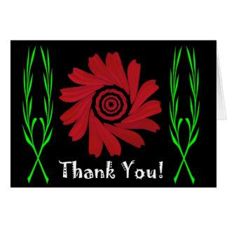 Cartões de agradecimentos das margaridas