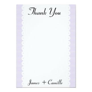 Cartões de agradecimentos das riscas da convite personalizado