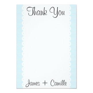 Cartões de agradecimentos das riscas dos convites personalizado