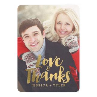 Cartões de agradecimentos de brilho do casamento convite 12.7 x 17.78cm