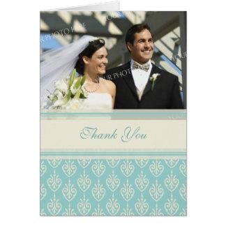 Cartões de agradecimentos de creme do casamento da