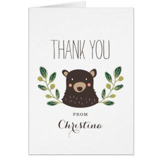 Cartões de agradecimentos de Cub de urso