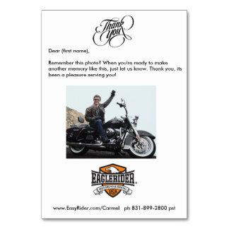 Cartões de agradecimentos de EagleRider