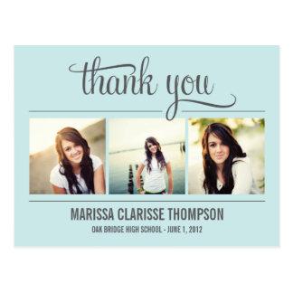 Cartões de agradecimentos de graduação da graduaçã cartão postal