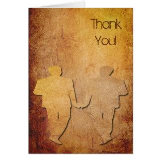 Cartões de agradecimentos de papel do casamento