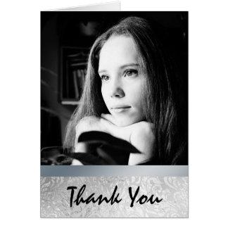Cartões de agradecimentos de prata da graduação da
