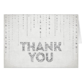 Cartões de agradecimentos de prata do olhar do bri