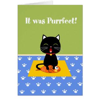 Cartões de agradecimentos de Purrfect
