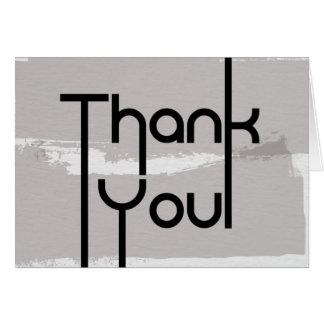 Cartões de agradecimentos - design de texto modern