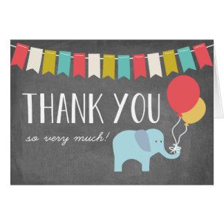 Cartões de agradecimentos do aniversário do