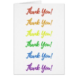 Cartões de agradecimentos do arco-íris