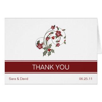 Cartões de agradecimentos do azevinho