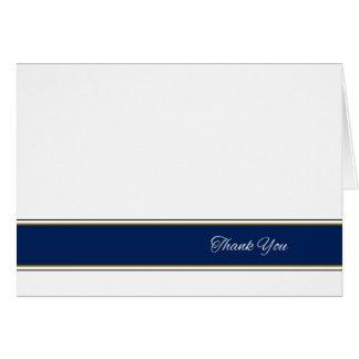 Cartões de agradecimentos do azul e do ouro