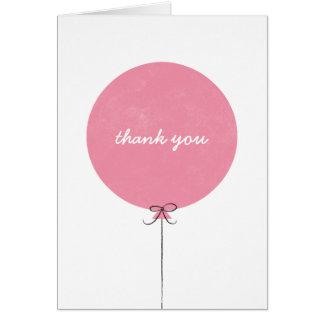 Cartões de agradecimentos do balão - aumentou