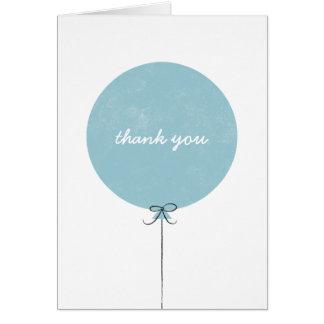 Cartões de agradecimentos do balão - céu