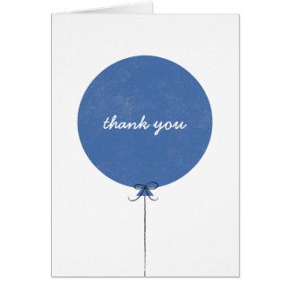 Cartões de agradecimentos do balão - cobalto