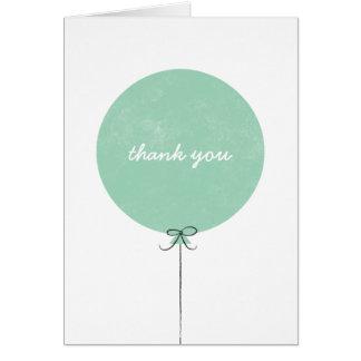 Cartões de agradecimentos do balão - hortelã