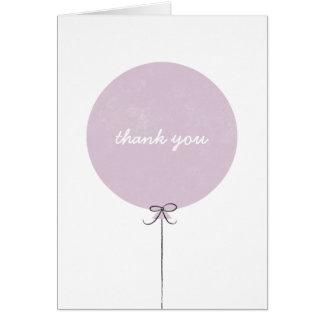 Cartões de agradecimentos do balão - lavanda