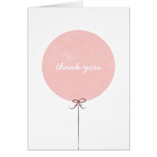 Cartões de agradecimentos do balão - pêssego