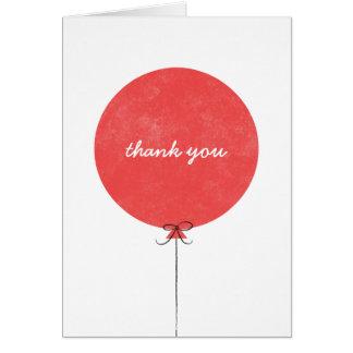 Cartões de agradecimentos do balão - vermelho
