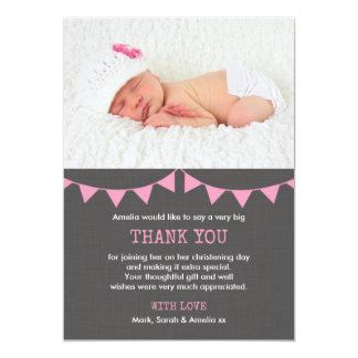 Cartões de agradecimentos do batismo/baptismo das