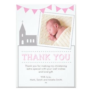 Cartões de agradecimentos do batismo/baptismo das convite 12.7 x 17.78cm