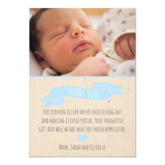 Cartões de agradecimentos do batismo/baptismo dos