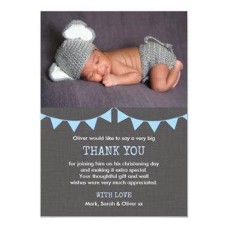 Cartões de agradecimentos do batismo/baptismo dos convite 12.7 x 17.78cm