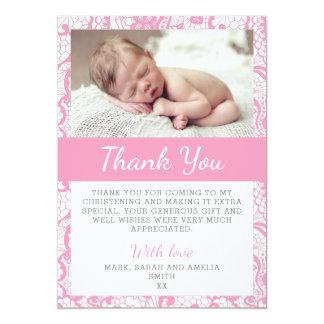 Cartões de agradecimentos do batismo das meninas convite 12.7 x 17.78cm
