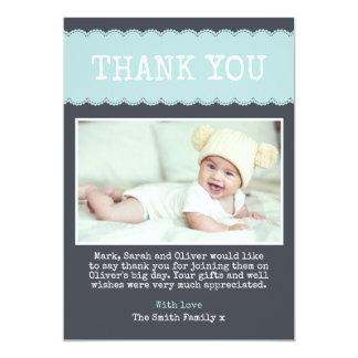 Cartões de agradecimentos do batismo dos meninos convite 12.7 x 17.78cm