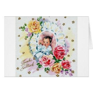 Cartões de agradecimentos do bebê do vintage