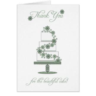 cartões de agradecimentos do bolo de casamento - o