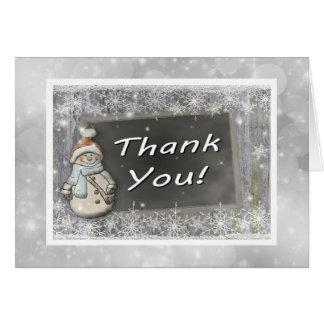 Cartões de agradecimentos do boneco de neve
