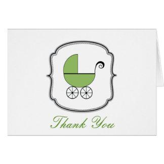 Cartões de agradecimentos do carrinho de bebê