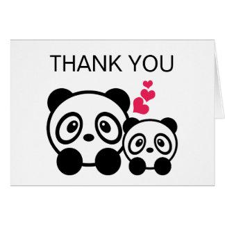 Cartões de agradecimentos do casal da panda
