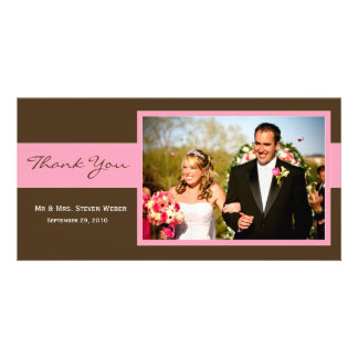Cartões de agradecimentos do casamento cartão com foto