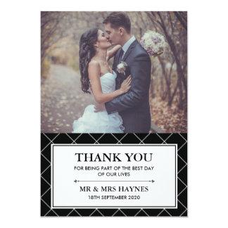 Cartões de agradecimentos do casamento - cartão convite 12.7 x 17.78cm