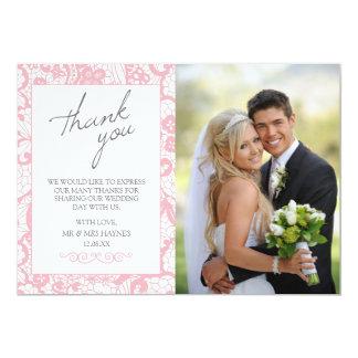 Cartões de agradecimentos do casamento, cartão convite 12.7 x 17.78cm