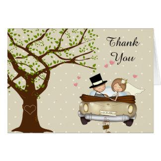 Cartões de agradecimentos do casamento com os